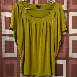 EAST 5TH GREEN BLOUSE